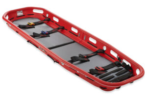 2-piece basket stretcher with inlay mat and straps