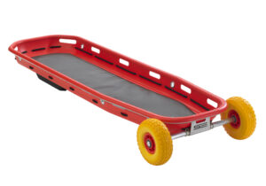 Basket stretcher, 1-piece with skids and removable wheels (set).
